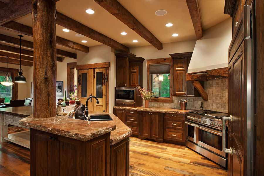 Conifer mountain rustic home landmark luxury homes for Luxury rustic homes