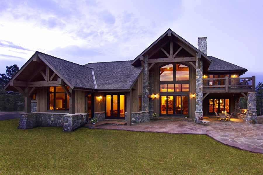 Evergreen mountain traditional home landmark luxury homes for Luxury traditional homes
