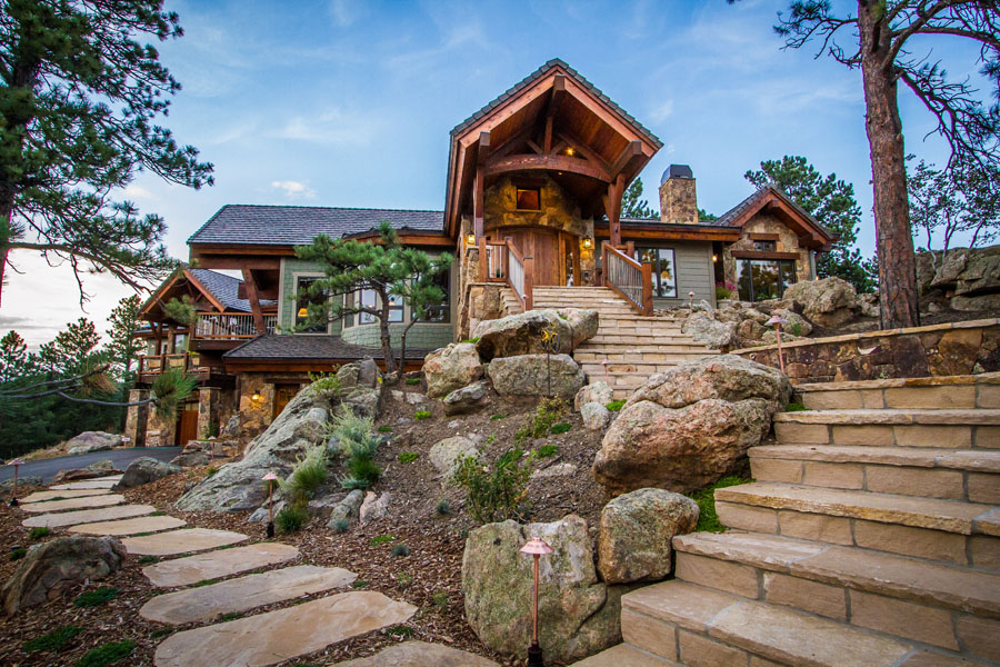 Genesee mountain traditional home landmark luxury homes for Luxury traditional homes
